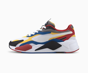 blue red and yellow pumas