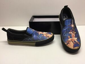 Skechers Star Wars A New Hope Solo Leia Slip on Canvas Sneakers ... b32e3a0ad