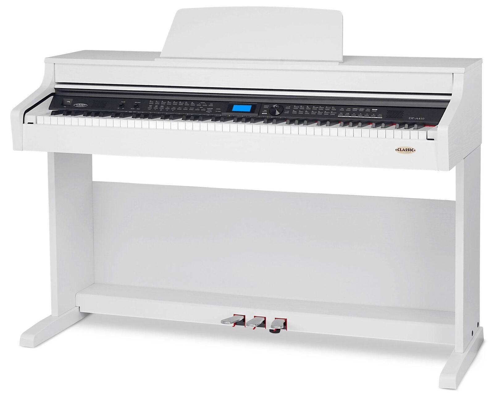 Anfänger Digitalpiano mit EQ & DSP-Effekt, Splitfunktion AUX weiß matt