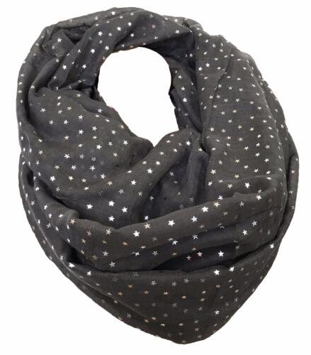 STELLA SILVER STAR loop Cotton UNI FASHION circa copricollo sciarpa stola