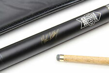 BCE Mark Selby RIBBED GRIP Weight Adjustable WAC 2pc Ash Snooker Pool Cue + Case