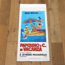PAPERINO E C. IN VACANZA locandina poster Walt Disney Donald's Magic Summer AJ93