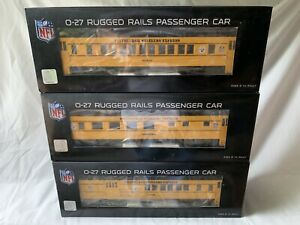 MTH-RAILKING-PITTSBURGH-STEELERS-PASSENGER-CAR-SET-NEW-NFL-FOOTBALL-FOR-LIONEL