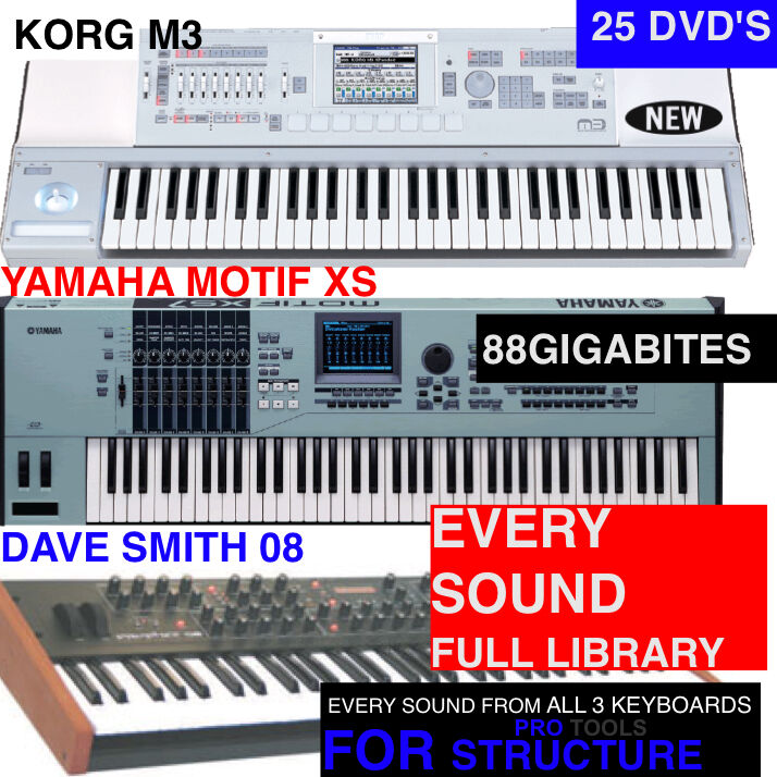 NEW  XS M3 AND PROPHET 08 Samples Library For PRO TOOLS STRUCTURE Sampler