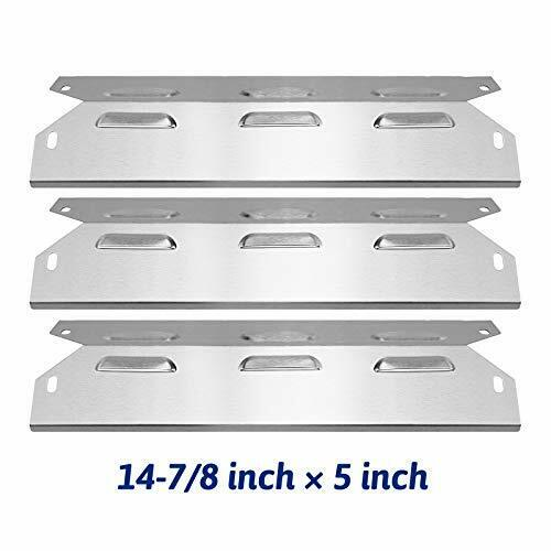 3X Porcelain Steel Heat Shield Plate 14-7//8/'/' X 5/'/' For  BBQ Gas Grill