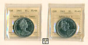 ICCS-Canada-2-1965-1-Coins-SmBds-Blt-5-amp-Ptd-5-PL-64-amp-PL-65