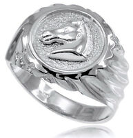 Sterling Silver Horse Head Men's Ring