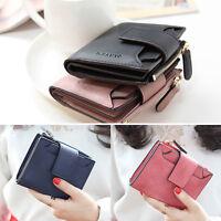 Hot!Women Girl Purse Short Wallet Credit Card Holder Small Handbag PU Clutch XN