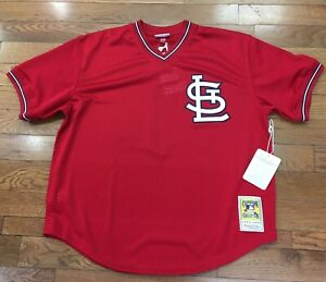 new style f3c9b 30d64 Details about St Louis Cardinals Ozzie Smith Mitchell & Ness Batting  Practice Jersey