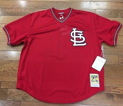 brand new 96023 3c0b1 St Louis Cardinals Ozzie Smith Mitchell & Ness Batting Practice Jersey |  eBay