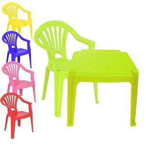 Tavoli Per Bambini In Plastica.Childrens Kids Plastic Table And Chairs Nursery Sets Indoor Use