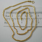 18K YELLOW GOLD CHAIN NECKLACE, BRAID ROPE 17.71 INCH LONG, MADE IN ITALY