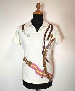 Women-Vintage-Polo-Ralph-Lauren-Shirt-Skinny-Fit-White-XL-Designer-Style