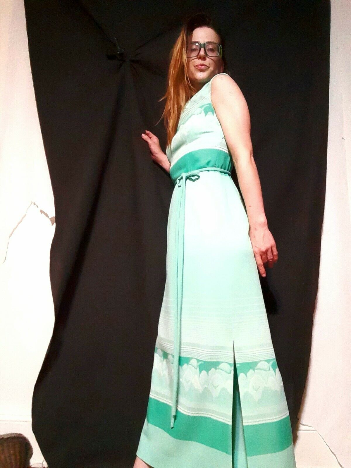 The Boulevard Shop mint green 1960s Dress