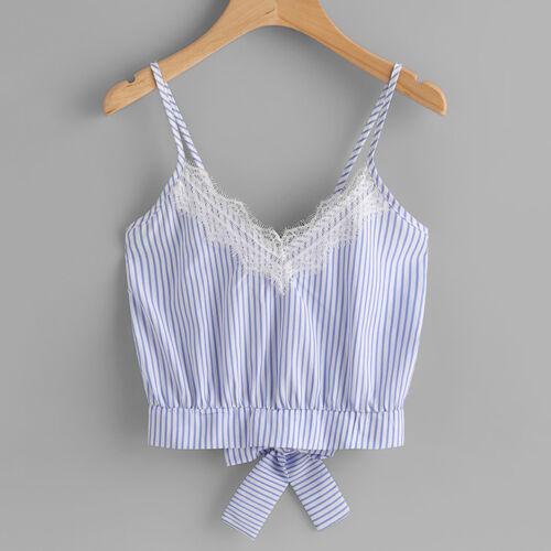 Women Fashion Summer Tank Tops Vest Blouse Casual Crop Cami Sleeveless Short Top
