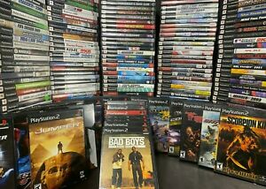 PS2 GAMES LARGE LOT YOU PICK EM PLAYSTATION 2 CLEANED AND TESTED. FREE SHIPPING