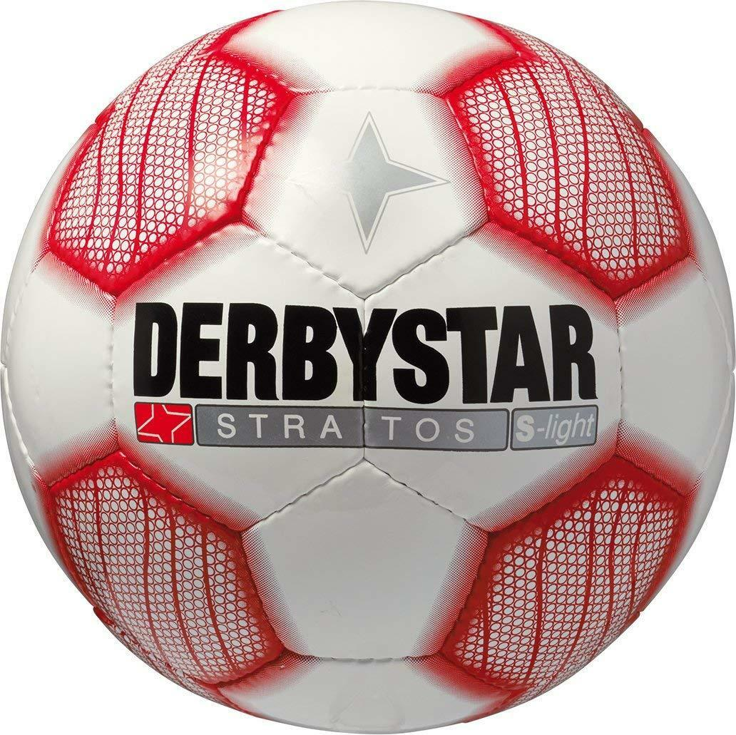 NEU Derbystar Jugend Fußball 45% Stratos S-light Gr.5 weiß-rot bis 45% Fußball Rabatt 46815b