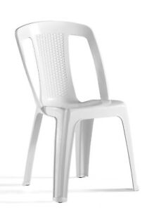 Superbe Image Is Loading Marquee WHITE ELBA RESIN BISTRO CHAIR Mould Amp