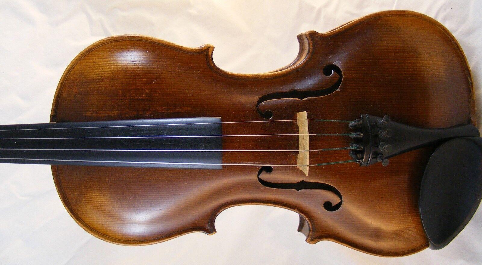 Vintage 4 4 Violin - Stainer Model - Handmade Handmade Handmade Fiddle - Includes Case e0b4c6