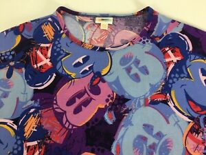 NEW-Disney-Mickey-Mouse-Size-XXS-Lularoe-Irma-Tunic-Top-Shirt-All-Over-Print