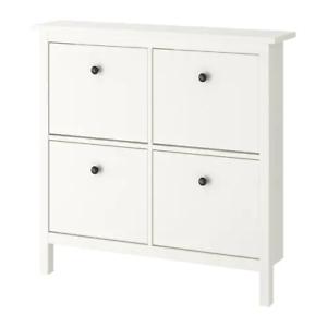 Armadietti In Plastica Ikea.Hemnes Ikea Scarpa Armadietto Con 4 Scomparti Bianco Ebay