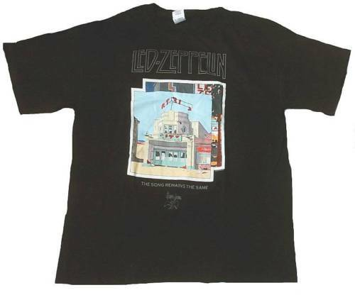 Official led zeppelin swan song rock star vip t-shirt s