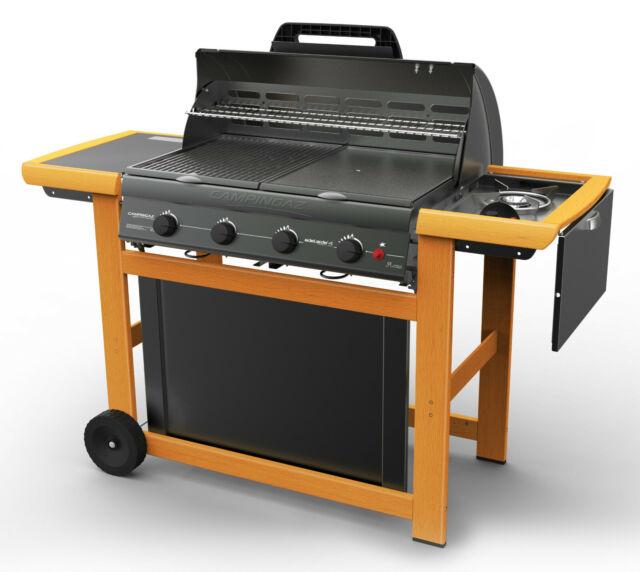 Barbecue a gas CAMPINGAZ in acciaio e legno Mod ADELAIDE 4 WOODY DLX