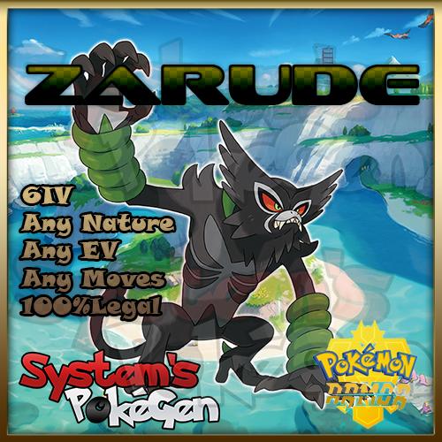 Pokemon Sword/Shield Isle of Armor Zarude 6IV Any Nature 100% Legal *PREORDER* 1