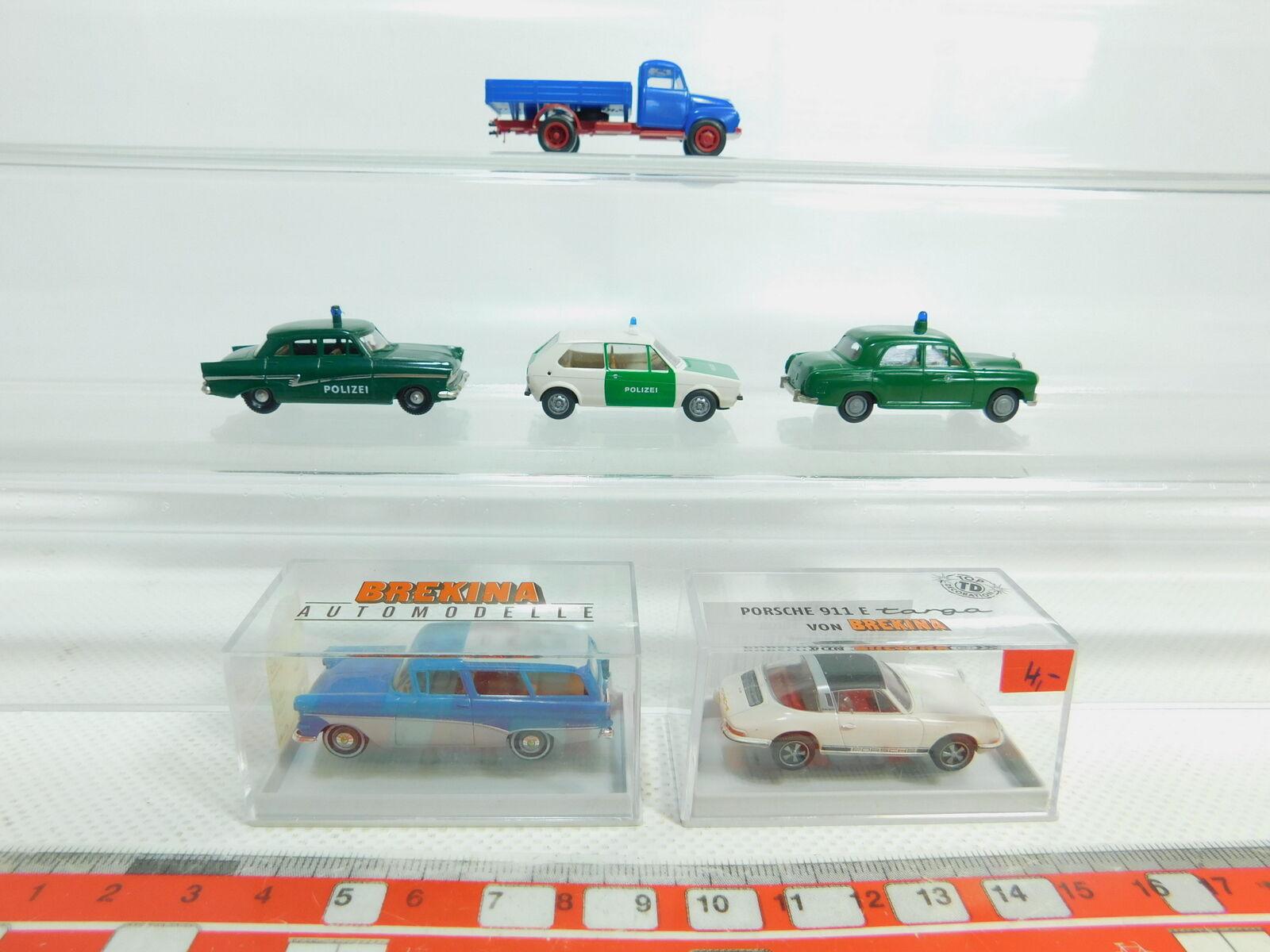 Bn129-0, 5 X Brekina H0   1 87 Car etc.   20025 Opel +244565 Porsche , Top