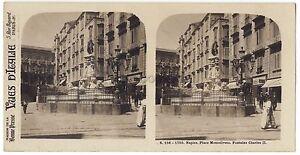 Napoli Place Montoliveto Napoli Italia Stereo Vintage Analogica C 1910