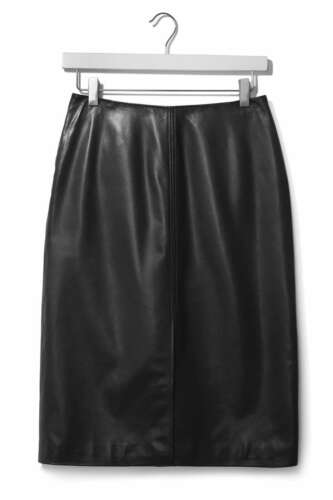 £140 Boutique Midi Topshop Split Skirt Uk 2260583455040 32 eu 4 New By Black Leather Rrp wpqXqd17