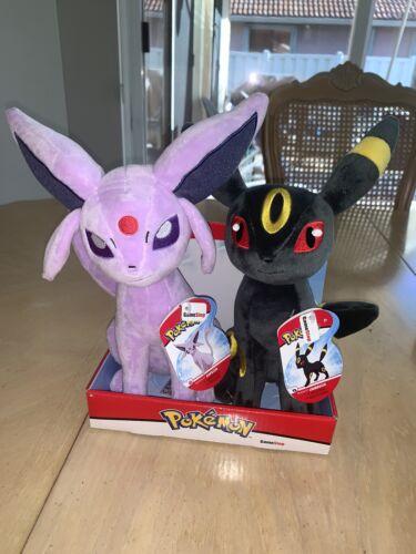 Pokemon NWT Espeon /& Umbreon Plush Wicked Cool Toys WCT Gamestop Exclusive 2019