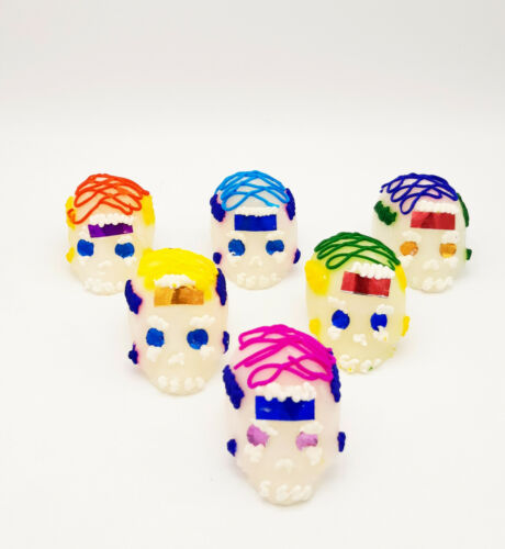 Pack of 6 Calaveritas de Azucar Mexican Candy Sugar Skulls