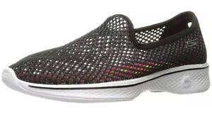 Skechers-Women-039-s-Go-4-Atmosphere-14905BKW-Walk-Shoe-Black-Whi-Size-9