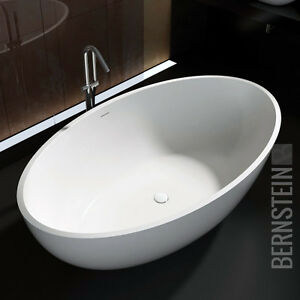 BERNSTEIN Design Badewanne Freistehende Wanne Armatur RELAX ... | {Freistehende badewanne mineralguss oder acryl 53}