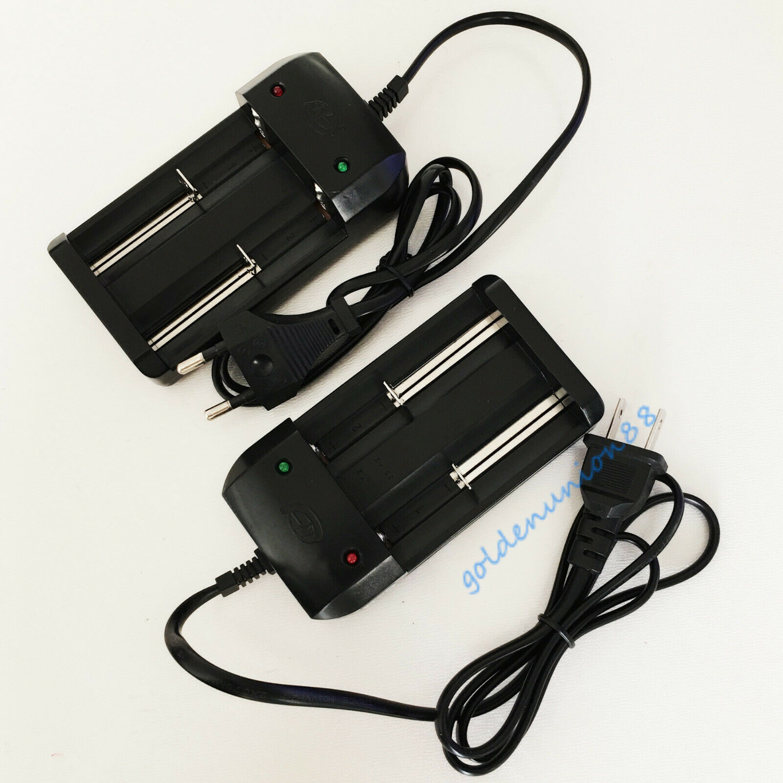 10PC 4.2V Charger for 3.7V 3.6V NMC LMO ICR 2X18650 26650 18500 Li-ion battery