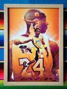 Framed-KOBE-BRYANT-LA-Lakers-NBA-Basketball-Poster-62cm-x-44-5cm-x-3cm