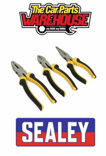 Sealey S0645 Comfort Grip Pliers Set 3pc THREE PIECE KIT