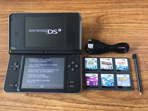 Nintendo DSi XL Black Handheld System Console Bundle +6 Games & Charger
