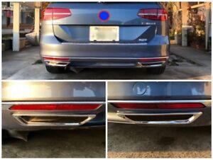 R-Line-Reflektor-Blenden-Edelstahl-Chrom-VW-Passat-B8-3G2-3G5-Limousine-Variant