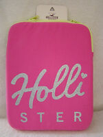 Hollister Tablet/ I Pad / Kindle, Sleeve Case,pink Script Hollister On Front,nwt