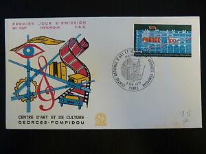 Architecture Adaptable France Premier Jour Fdc Yvert 1922 Centre Georges Pompidou 1f Paris 1977 Attractive Designs; Stamps