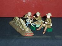 Britains 41148 Browning Machine Gun + Us Detachment Metal Toy Soldier Figure Set