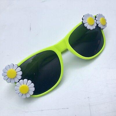 Flower Sunglasses Handmade Neon Rave DAISY Acid House Festival Glasses Lucite