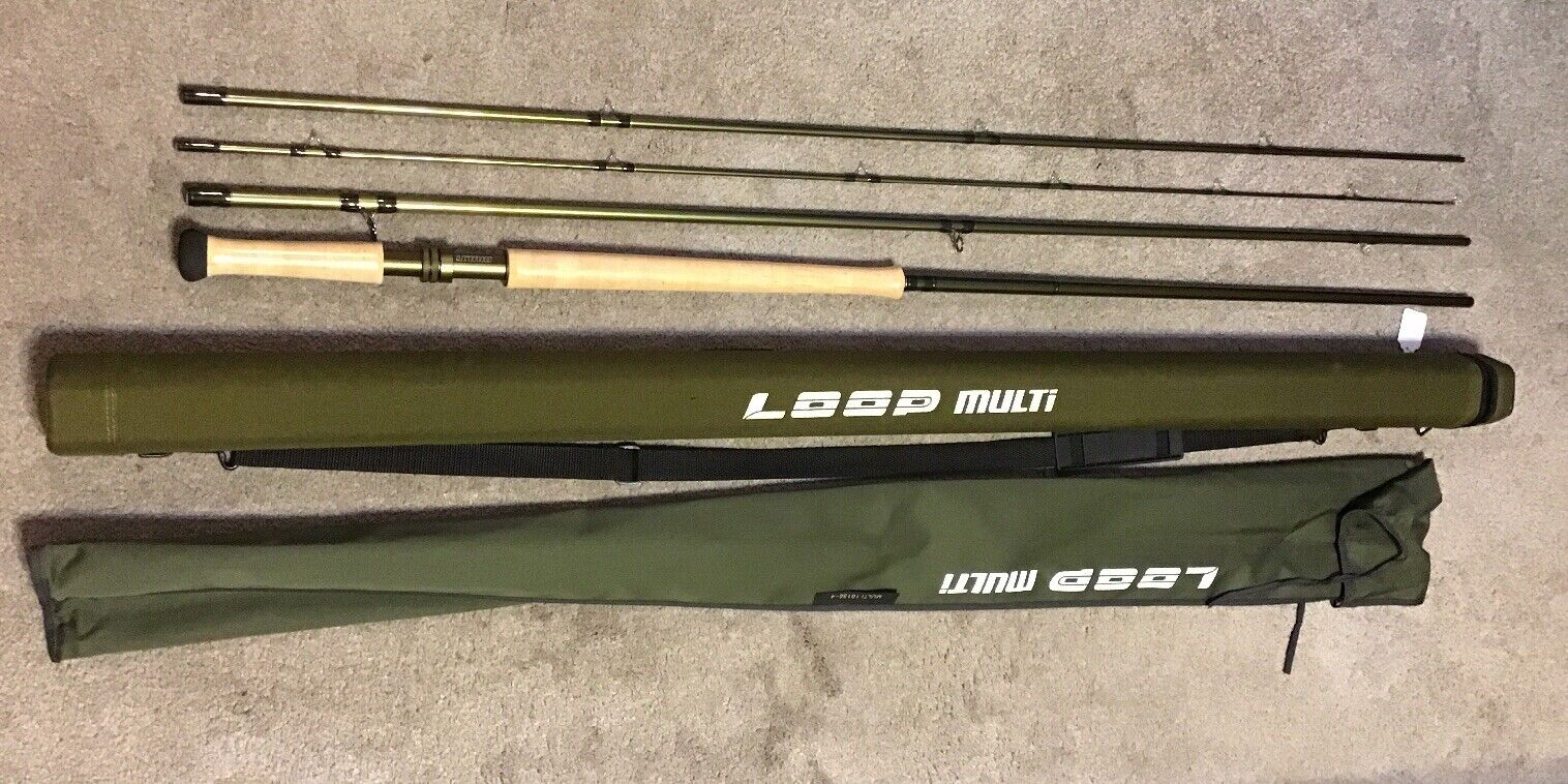 Loop 101504 Multi 15' 4pc 1011wt 3643G Series  Spay Fly Rod With Tube Lot C2