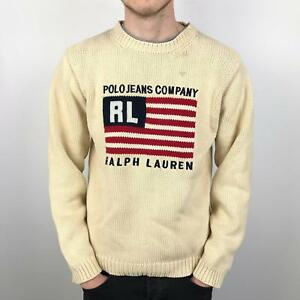 a183c46805ec Vintage RALPH LAUREN Polo Jeans Co Knit Jumper | Classic 90s Flag ...