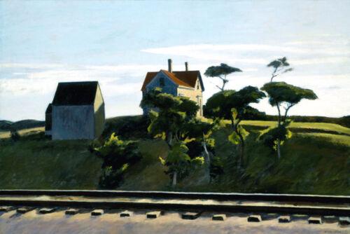 New York New Haven and Hartford Rail Train Edward Hopper Fine Art FREE S//H USA