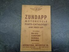 Zundapp  DB 202 Comfort Norma Enduro Parts Catalog Manual    #34  1054