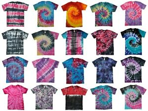 TIE-DYE-T-SHIRT-Top-Rainbow-Tye-Die-Tee-Tshirt-Festival-Retro-Men-Women-Child-T