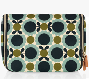 Auth-Brand-New-Orla-Kiely-Scallop-Flower-Spot-Hanging-Wash-Bag-Cosmetic-Bag-Gift